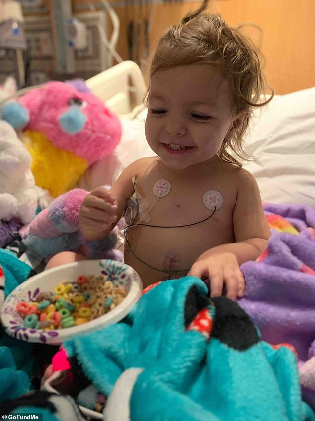 McKenna 'Kenni' Shea Xydias was diagnosed with ovarian yolk sac tumor on February 15 after developing a 103F fever and a bloated belly