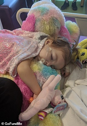Kenni has now undergone surgery and is about to embark on chemotherapy. 'This poor baby needs your prayers,' the family wrote on Facebook